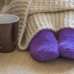 надеть теплые носки после прогревания ног
