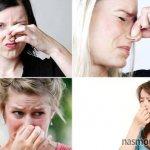 в носу непонятный запах